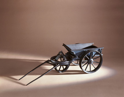 Three wheeled heavy wagon, 1750.
