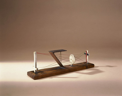 Model demonstrating the principle of the camera obscura, 1752.