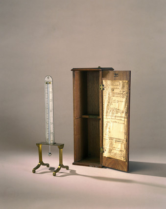 Mercury-in-glas thermometer, 18th century.