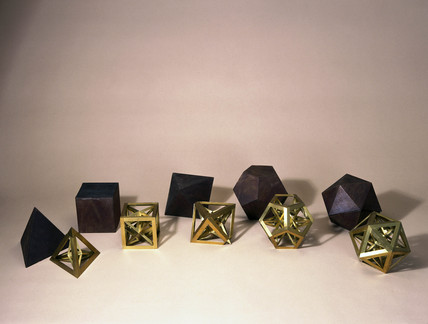 Five regular skeletal polyhedra, c 1650-1691.