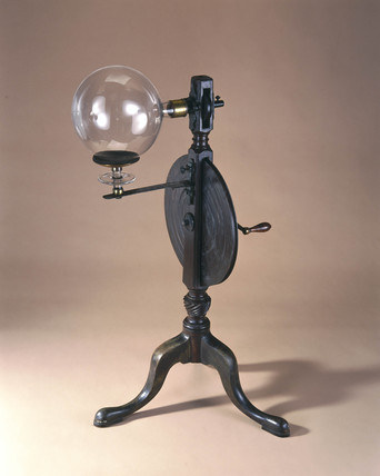Priestley's globe electrical machine, c 1768.