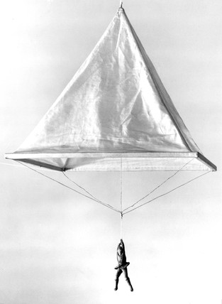 Model of a Leonardo da Vinci parachute, 1470-1520.