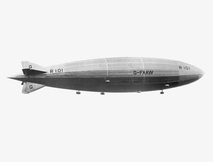 R101 airship, 1929-1930.