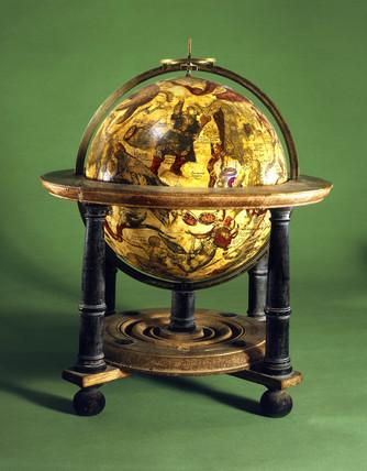 Celestial globe, Dutch, 1625.