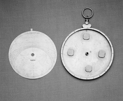 Astrolabe bras with one tablet, diameter 5