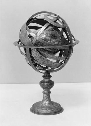 Armillary sphere, 1842. This armillary sphe