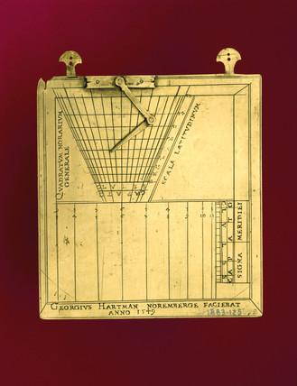 Bras horary quadrant, 1549.