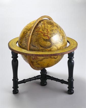 Celestial globe, 1636.