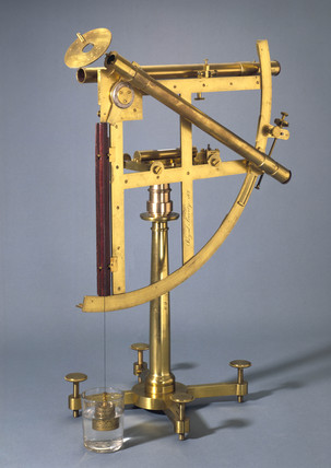 Twelve inch portable astronomical quadrant, 1760-1769.