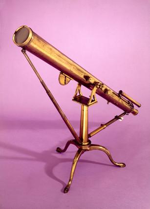 Refracting telescope of 3 1/4 inch aperture, 1800-1860.