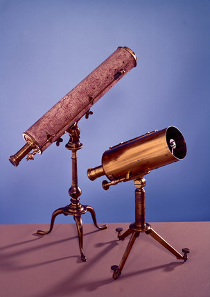 Pair of small Gregorian reflecting telescopes, mid 18th-mid 19th century.