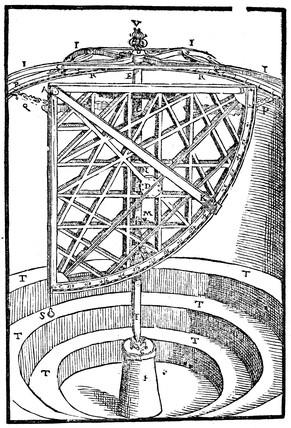 Tycho Brahe's Azimuth quadrant, 16th century.