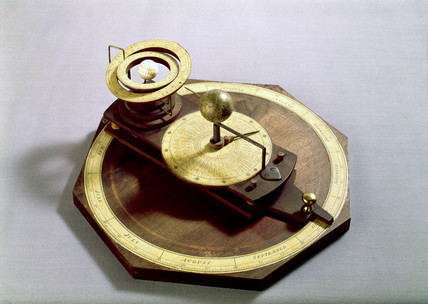 Wooden pulley orrery, 1755-1756.