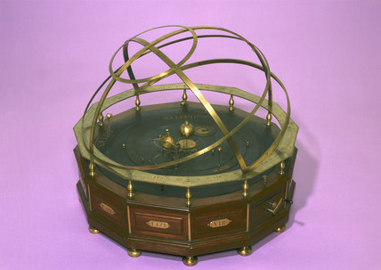 Orrery with armillary bands, 1740-1747.