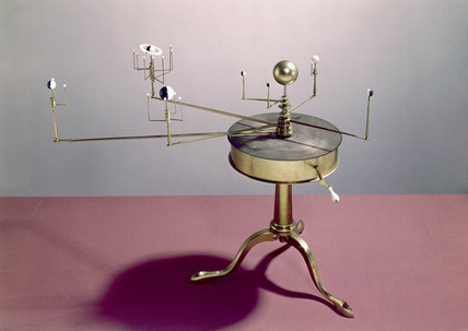 Drum model bras orrery, 1781-1795.