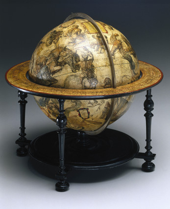 Celestial globe, Dutch, 1603.