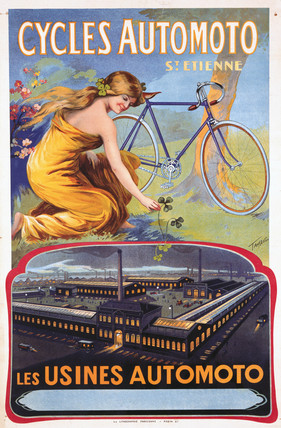 'Cycles Automoto St Etienne - Les Usines Automoto', c 1914.