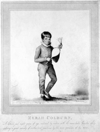 Zerah Colburn, American child prodigy, 1813.