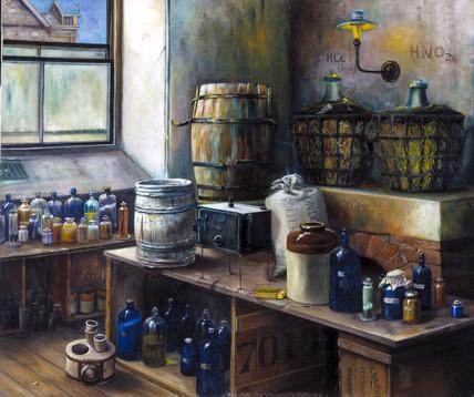 Chemical laboratory, Redruth Science & Art School, Cornwall, 1897.