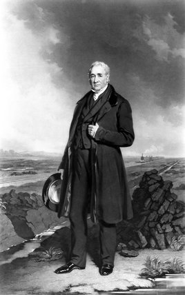 George Stephenson, English railway engineer, c 1835-1845.