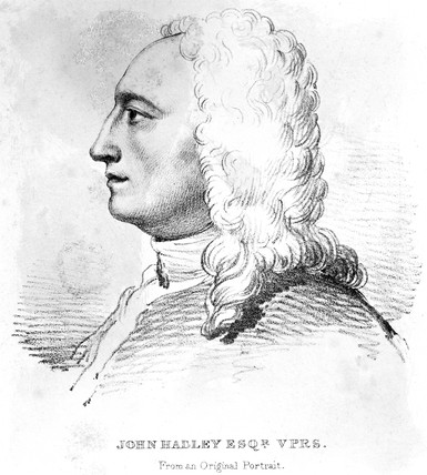 John Hadley, English optical instrument maker, 1728.