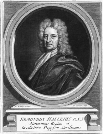 Edmond Halley, English astronomer, c 1700.