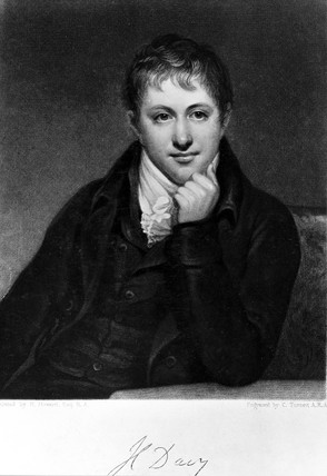 Sir Humphry Davy, English chemist, 1801.