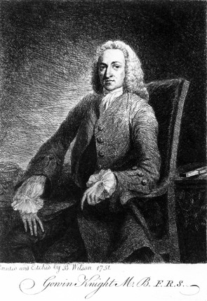 Gowin Knight, English physicist, 1751.