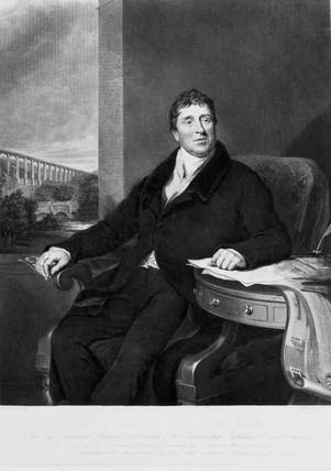 Thomas Telford, Scottish civil engineer, c 1820.