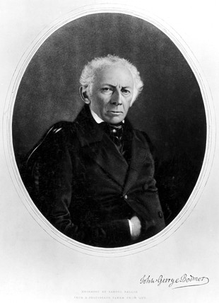 Johann Georg Bodmer, Swis engineer and inventor, c 1850s.