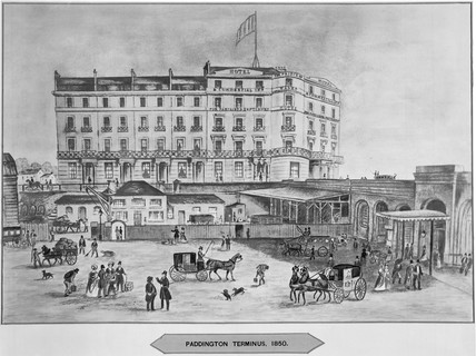 'Paddington Terminus', 1850. Illustration s