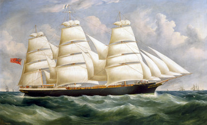 'Torrens', iron full-rigged ship, 1875.