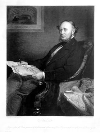 Sir John Fowler, British civil and mechanical engineer, 1868.