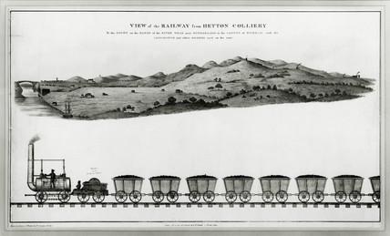 Hetton Colliery railway, Hetton-le-Hole, County Durham, c 1822.