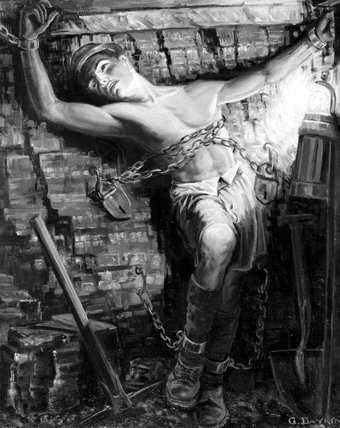 'Symbolic: The Miner 'Enslaved', 1938.