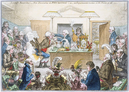A scientific lecture, 1802.