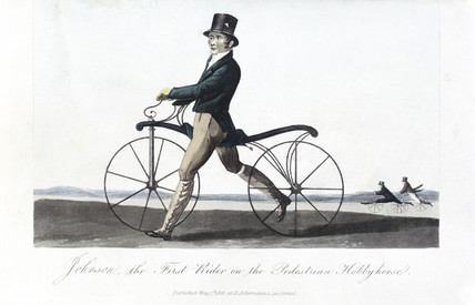 'Johnson, the First Rider on the Pedestrian Hobby Horse', 1819.