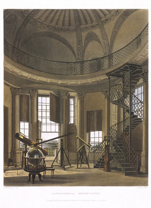Interior view of Radcliffe Observatory, Oxford, 1814.