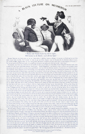 'A Black Lecture on Mesmerism', c 1880s.