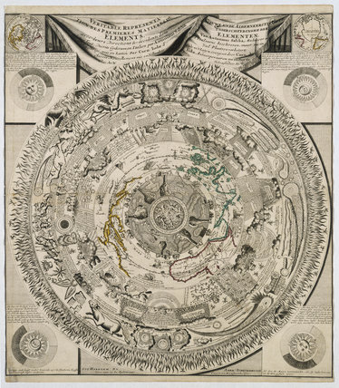 The Earth's elements, c 1600s.