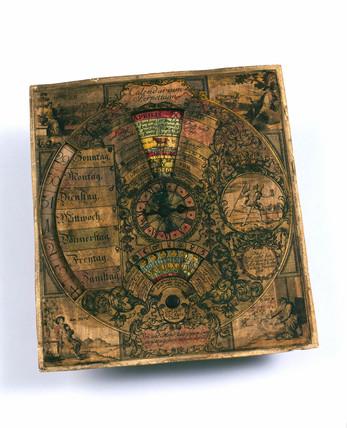 Perpetual calendar, German, 1765.