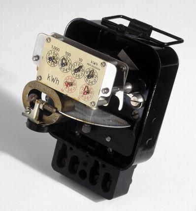 Electricity meter, c 1930.