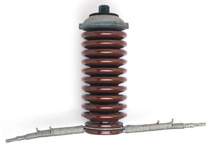High voltage (33 KV) ceramic insulator, c 1956.