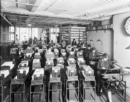 Burroughs machines in use at Brown Brothers