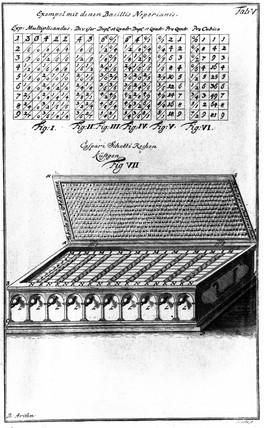 Napier's Bones, 1724.