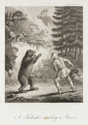 'A Finlander attacking a Bear', c 1798-1799.