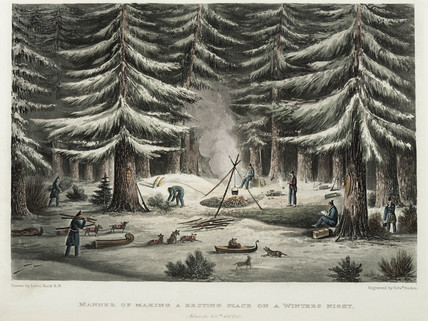 'Manner of Making a Resting Place on a Winter's Night', Canada, 15 March 1820.