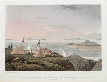'View of the Arctic Sea, from the Mouth of the Copper Mine River, Midnight', 1821.