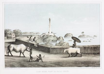 'Light House, Point de Galle, Ceylon', 1853.