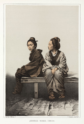 'Japanese Women, Simoda', c 1853-1854.